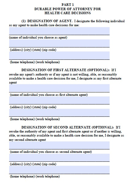 Free Alaska Medical Power Of Attorney Form Template