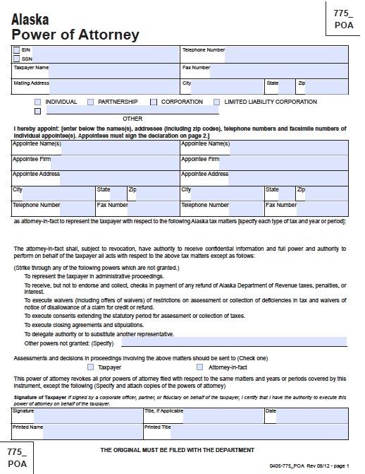 Tax (Form 775)