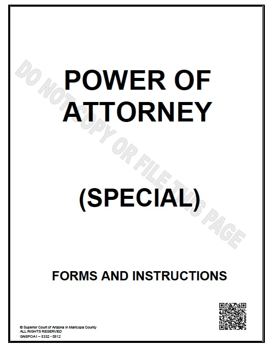 arizona limited power of attorney form - Sample Special Power Of Attorney Form