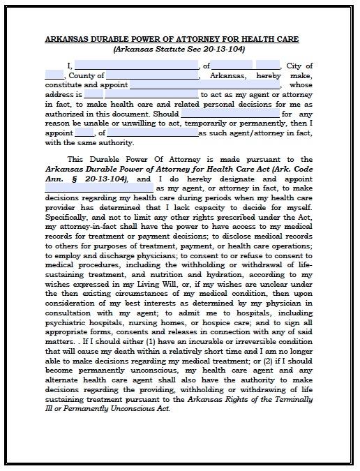 arkansas-medical-power-of-attorney-form