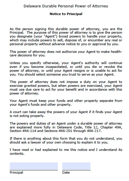Free delaware power of attorney forms and templates for Power of attorney to execute motor vehicle documents