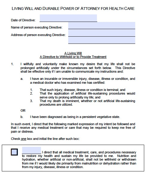 Free Idaho Medical Power Of Attorney Form PDF Template - Living will template free