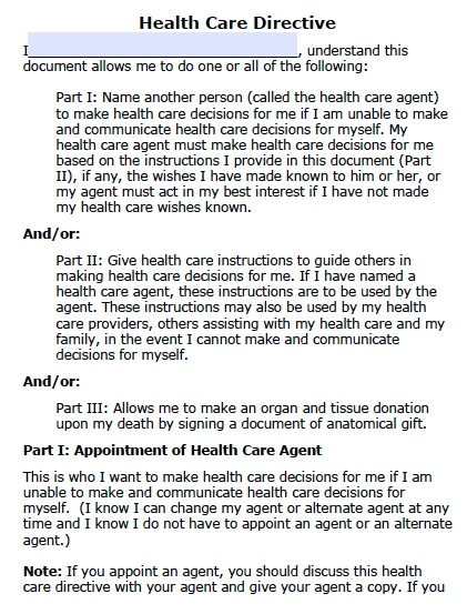 Free North Dakota Health Care Power Of Attorney Form Pdf Template
