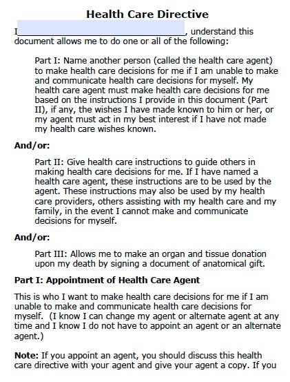 Health Care POA