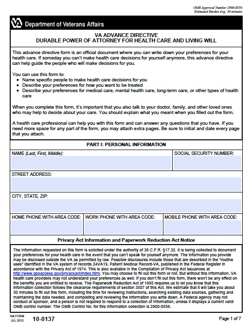 Free Virginia Medical Power Of Attorney Form  Pdf Template
