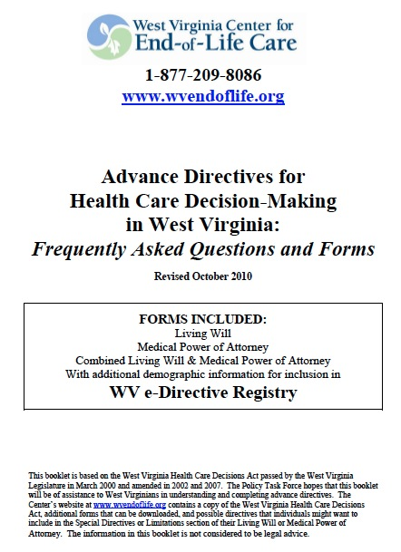 Free West Virginia Medical Power Of Attorney Form Pdf Template