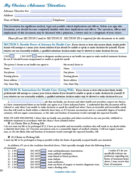 Free Wyoming Medical Power Of Attorney Advance Directive  Pdf